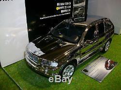 BMW X5 4.4i chrome au 1/18 KYOSHO 08521CR voiture miniature de collection