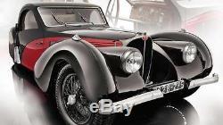Bugatti 57 Sc Atalante Rouge 1/12 Bauer