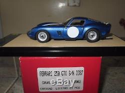 Bbr Ferrari 250 Gto Cavallino Classic 2002 Car 16a2 S/n 3387 Limited 61 P 1/43