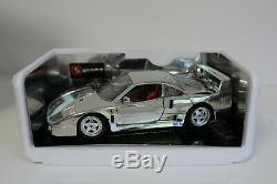 Bburago 1/18 Ferrari F40 1987 Chrome 3401 2217