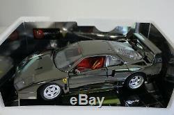 Bburago 1/18 Ferrari F40 1987 Chrome Black 2219