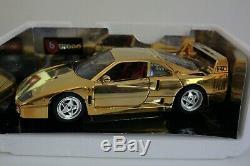 Bburago 1/18 Ferrari F40 1987 Chrome Gold 3401 2222