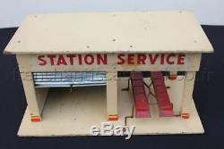 C647 Superbe ancien GARAGE SHELL MAJOLU vehicule miniature station service 3519