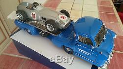 CAMION MERCEDES RACING CAR +MERCEDES MONOPOSTO #10 AU 1/18 PAR CMC