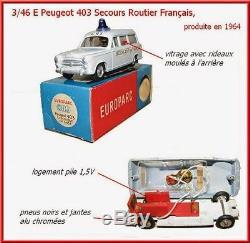 CIJ Réf 3/46E Peugeot 403 CRS Pale Blue