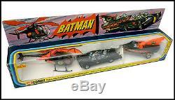 Corgi Toys Gift Set 40 Batman Batmobile Batboat Batcopter En Boite Mib 1976