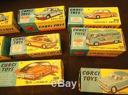 Corgi Toys Lot De 13 Boites Vide D'époque