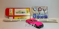 Citroen SM Majorette Parfaite avec boîte carton, panneaux et bandes Marchal 1972