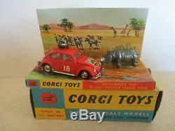 Corgi Toys 256 Vw Volkswagen 1200 East African Rally Mib 9 En Boite L@@k