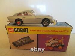 Corgi Toys 270 Aston Martin Db5 James Bond Gold Bumpers Mib 9 En Boite Nice L@@k