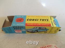 Corgi Toys 322 Rover 2000 Rallye Monte Carlo Mib 9 En Boite Rare Box Gs38 L@@k
