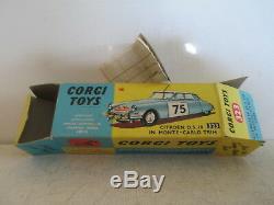 Corgi Toys 323 Citroen Ds19 Monte Carlo Rallye Mib 9 En Boite Very Nice L@@k
