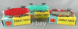 Corgi Toys Gift Set N°16 Ecurie Ecosse Racing Car Transporteur & 3 Voitures Pr