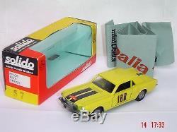 DALIA Solido SPAIN Ford MUSTANG HYPER RARE ref 57 RALLYE cf série 100 +pub dinky
