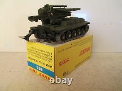DINKY 813 AMX WITH 155mm ABS GUN MILITARY TANK MIB 9 EN BOITE VERY NICE L@@K