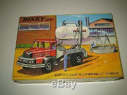 DINKY TOYS CAMION UNIC MULTIBENNE ET CITERNE #805 (avec boîte) A++