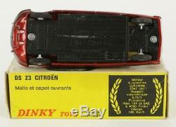 DINKY TOYS ESPAGNE 530 CITROEN DS 23 GRENAT & NOIR + BOITE ORIGINAL & ANCIEN -cp