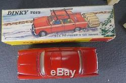 DINKY TOYS FRANCE. PEUGEOT 404 SKIS MONOROUE. REF 536. + Boite