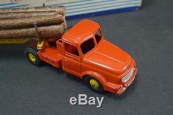 DINKY TOYS FRANCE. Tracteur WILLEME fardier. REF 36A + boite (lot 3)