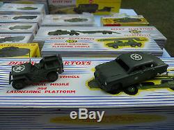 Dinky Toys Militaires Exceptionnel Lot De 40 Modeles Neufs En Boites D'origine