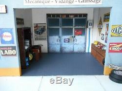 DIORAMA 1/43 GARAGE RENAULT 50's / 60's (HACHETTE, NOREV, ELIGOR, IXO)