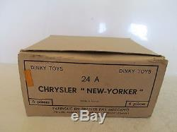 Dinky 24a Chrysler New Yorker 1955 Rare Boite Revendeur Trade Box L@@k