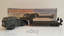 Dinky Toys 890 Tracteur Berliet et semi-remorque porte-char en boîte origine