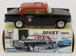 Dinky Toys France 1400 Peugeot 404 Taxi Radio G7 + Boite Original & Ancien