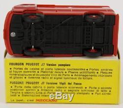 Dinky Toys France 570p Peugeot J7 Pompier + Boite Original Et Ancien