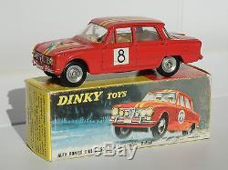 Dinky Toys France Alfa Romeo Giulia 1600 TI Rallye neuve en boîte d'origine 1401