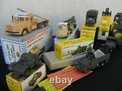 Dinky Toys Militaires Lot 14 Modeles Avec Boites D'origine Etat Exceptionnel