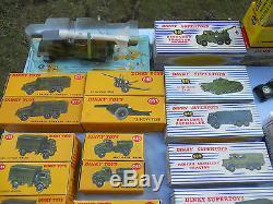 Dinky Toys Militaires Lot 40 Modeles Neufs Boites D'origine Etat Exceptionnel