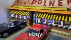 Diorama 1/18 DINER Road 66 resto USA no car scale 118 65x36x27 cm
