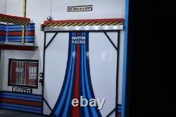 Diorama 1/18 atelier garage Martini Porsche LEDS 118 no car 51x28x30 cm