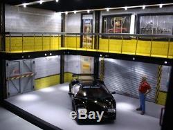 Diorama atelier garage Lamborghini 1/18 sans voiture no the car Eclairage LED
