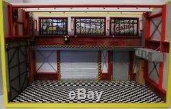 Diorama garage atelier mécanique 1/18 sans marques de voiture éclairage LED