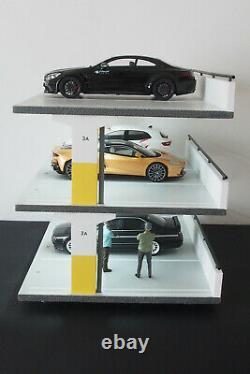 Diorama parking 3 étages avec éclairage voitures miniatures 1/18