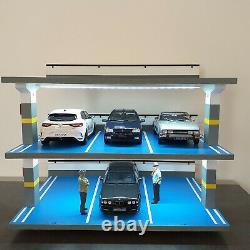 Diorama parking pour 9 voitures miniatures de collection 1/18