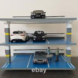 Diorama parking pour 9 voitures miniatures de collection 1/18 A RESERVER
