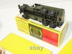 ETAT EXCEPTIONNEL! Dinky Toys FRANCE militaire 823 GMC citerne ULTRA NEUF Boîte