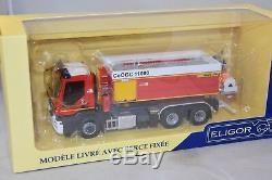 Eligor 115940 IVECO Trakker 410 VPCE PALFINGER cellule Jacinto pompiers 1/43
