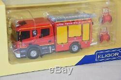 Eligor 116285 Scania P280 cabine CP 31 high FPT Heinis SDIS 57pompiers 1/43