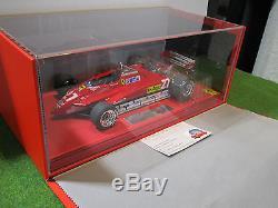 F1 FERRARI 126C2 GP SAN MARINO de 1982 VILLENEUVE rouge au 1/18 BBR P1894BV