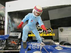 F1 TYRRELL FORD 003 + figurine STEWART #11 Winner Canada 1971 o 1/18 EXOTO 97024