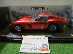 FERRARI 250 GTO 60th Years rouge 1/18 d ELITE HOT WHEELS L2972 voiture miniature