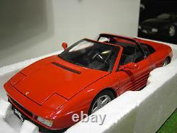 FERRARI 348 ts Cabriolet rouge au 1/18 HOT WHEELS ELITE X5480 voiture miniature