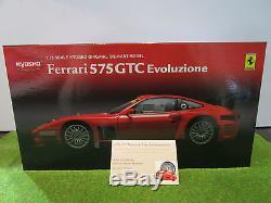 FERRARI 575 GTC EVOLUZIONE 575GTC rouge au 1/18 KYOSHO 08392B voiture miniature