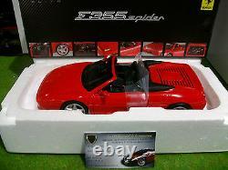 FERRARI F355 SPIDER cabriolet rge 1/18 HOT WHEELS ELITE BLY34 voiture miniature