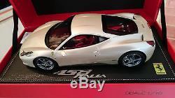 Ferrari F458 Italia White Fuji Au 1/18 Par Bbr