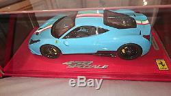 Ferrari F458 Speciale Baby Blue Au 1/18 Par Bbr
